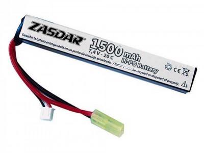 Batería Li-Po 7,4 V 1500 Zasdar