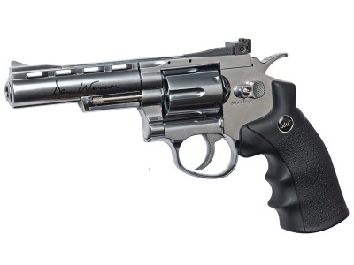 "Revólver Dan Wesson 4"" Silver ASG"